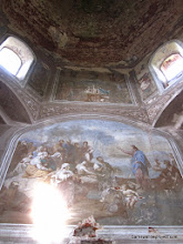 Photo: Murals in the abandoned church