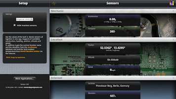 Screenshot of Sensors Free