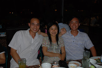Photo: This is Hang and Son at a annual high school reunion, which I was able to attend this year, first time in 8 years. I used to have a huge crush on Hang way back when. This doesn't mean anything, really, 'cause I used to have crushes on almost all of the female classmates, on top of those who weren't classmates. The twist is Son also had a crush on her and he and I were buddies... The story didn't end up well, Hang got married to somebody else and Son and I, we're both still virgins to this day. OK, not sure about me but I am pretty sure he is.
