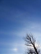 Photo: панорама 9: малое гало, верхняя касательная малого, верхняя касательная большого, паргелий