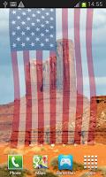 Screenshot of American Flag Live Wallpaper