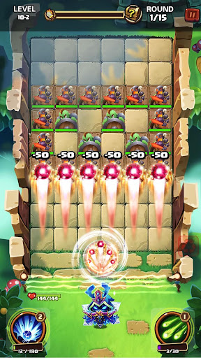 Hero War - Magic vs Monster Bounzy Brick Idle RPG apkdebit screenshots 5