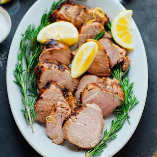 Easy Lemon Garlic Pork Tenderloin.