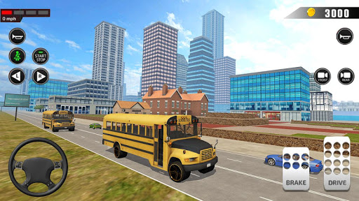 Offroad School Bus Driving: Flying Bus Games 2020 apkpoly screenshots 6