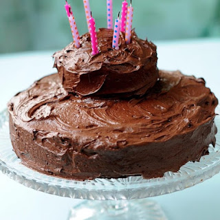 Gluten Free Vegan Chocolate Cake with Nutella Frosting.