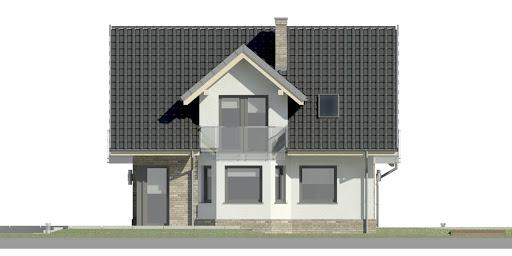 Dom przy Cyprysowej 15 K2 - Elewacja lewa