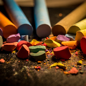Rainbow chalk by Ovidiu Sova - Artistic Objects Other Objects ( chalk,  )