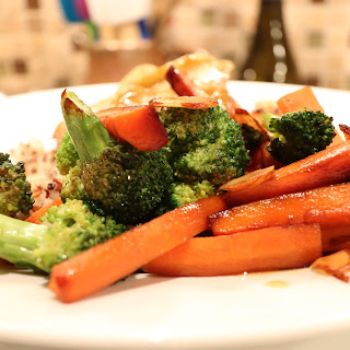 Broccoli with Carrots and Almonds