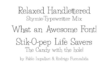 Photo: New Font Preview: Life Savers (Beta 09)  Post suggestions and feedback at: http://www.impallari.com/projects/overview/life-savers-handlettered-stymie