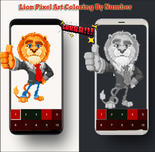 Lion Pixel Art-Animal Coloring By Number 7.0 screenshots 5