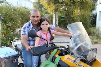 Photo: Family friend Karim and his daughter on Francois