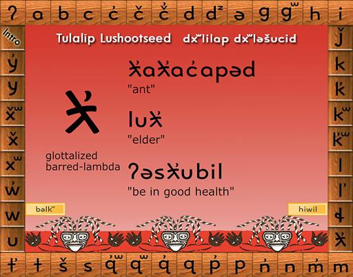 Lushootseed Alphabet