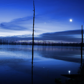 Blue Bayou by Kara Brothers - Landscapes Waterscapes ( pwcotherworldly, waterscape, lake, photoshop )