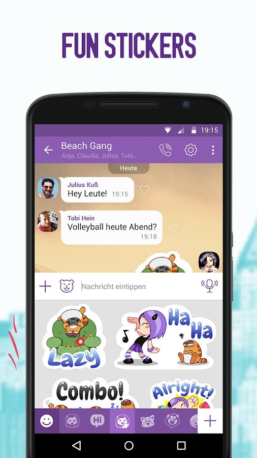 Using Viber for Android, you can chat over text messags, share stickers, GIFs, make unlimited video or voice calls of high-quality to one or multiple users