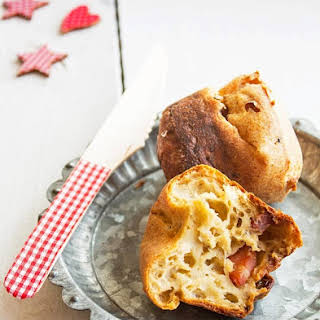 Bacon and Porcini Mushrooms Popovers.