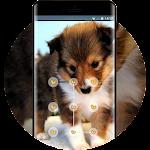 bright shy puppy lock theme Icon