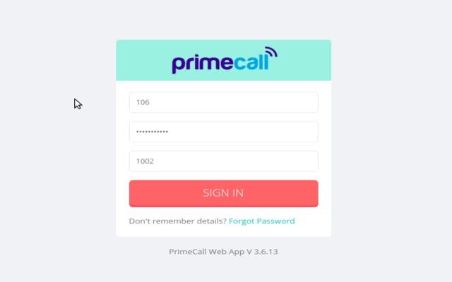 PrimeCall Web App
