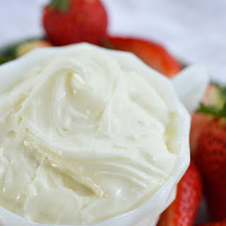 Marshmallow Fluff Cream Cheese Fruit Dip.