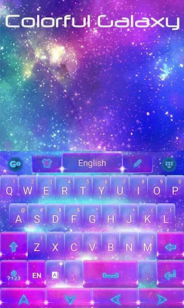 Colorful Galaxy Keyboard Theme 1.85.5.82 screenshot 189084