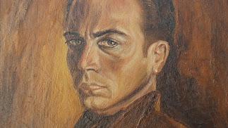 Autorretrato de MiguelRueda, óleo sobre lienzo pintado en el año 1940.