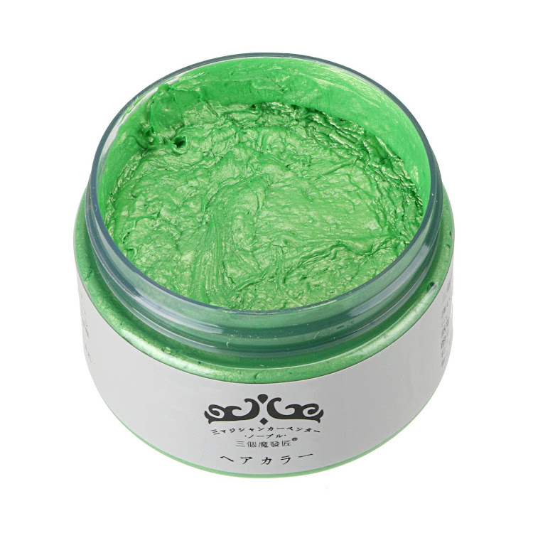 Japan Hair Color Wax Instant Hair Colour Wax High Quality - Green by Supermodels Secrets
