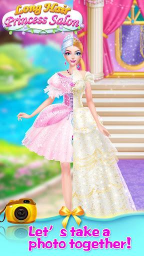 👸💇Long Hair Beauty Princess - Makeup Party Game screenshot 6