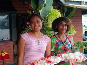 Photo: Girls Greeting Visitors