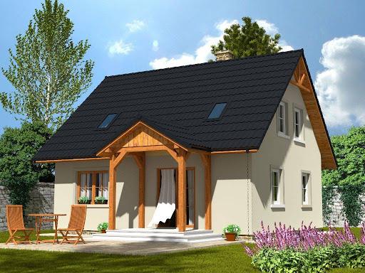 projekt Domek Ciepły 012 BK + Z