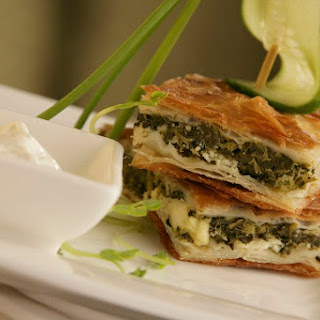 Greek Spinach Pie with Feta Cheese (Spanakopita).