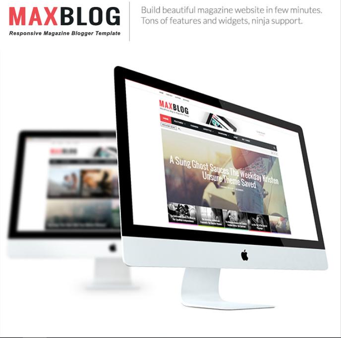 MaxBlog - Responsive Magazine Blogger Template - 9
