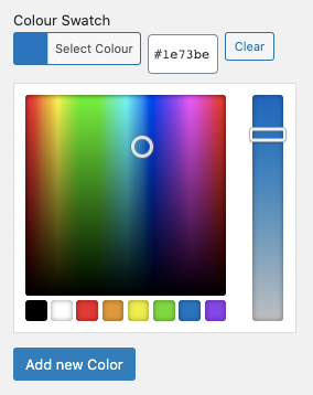 WooCommerce swatch color picker