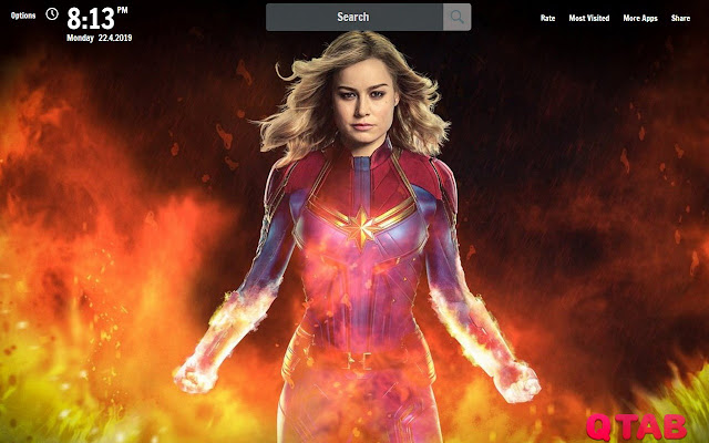 Captain Marvel New Tab Wallpapers