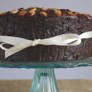 Traditional Christmas Cake with Amaretto Soaked Fruit {gluten free}.