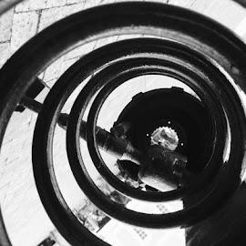 Spiral by Rebecca Pollard - Black & White Abstract (  )