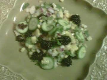 Roasted Corn & Blackberry Salad