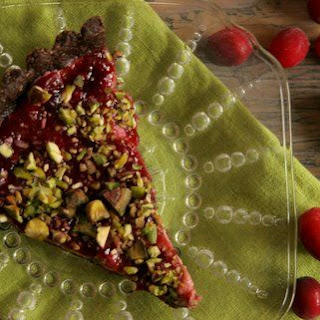 Cranberries & Cream Tart with Chocolate Crust