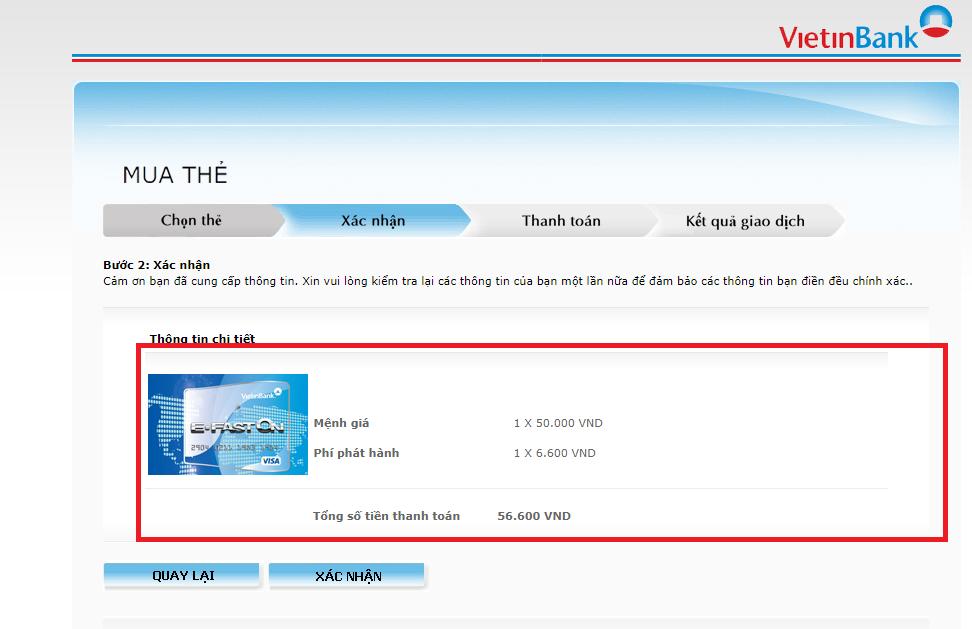 Mua thẻ Visa Ảo Vietinbank.