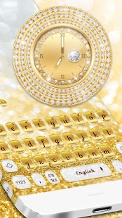 Gold Diamond Watch Keyboard - náhled