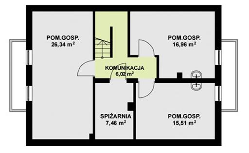 TK 55 P - Rzut piwnicy
