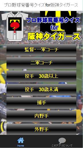 プロ野球背番号クイズfor阪神タイガース