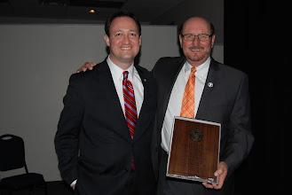 Photo: President's Servant Leader Award recepient Washington Mayor Gary Manier and John Morris