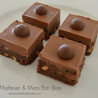 Malteser and Mars Bar Slice Recipe
