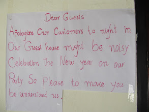 Photo: Day 275 -  Notice in Our Guest House