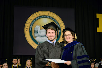 Photo: Benjamin Shoudy, Spanish and Communication major from Durham, Conn., McLuhan Award for Excellence in Communication