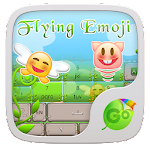 Flying Emoji GO Keyboard Theme 3.87 Apk