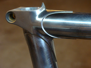 Photo: Finished stainless seat lug with stainless top tube.