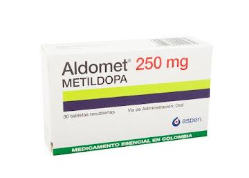 ALDOMET 250mg Tabletas   Caja x30Tab. ASPEN Metildopa