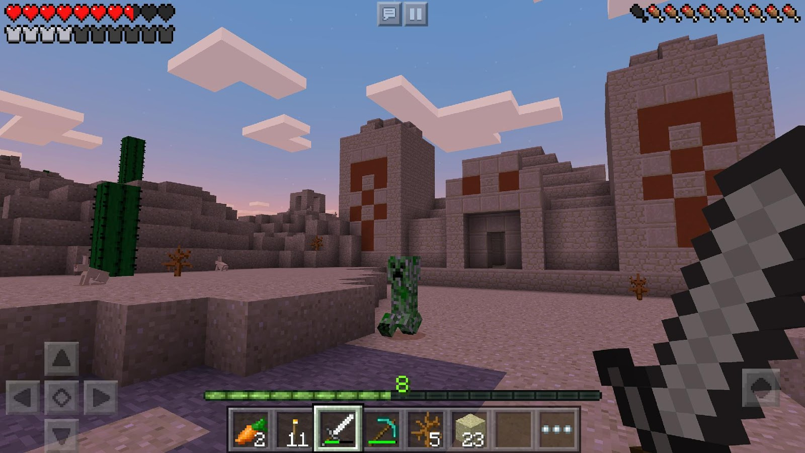 Minecraft: Pocket Edition: captura de pantalla
