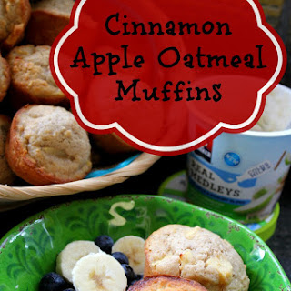 Cinnamon Apple Oatmeal Muffins