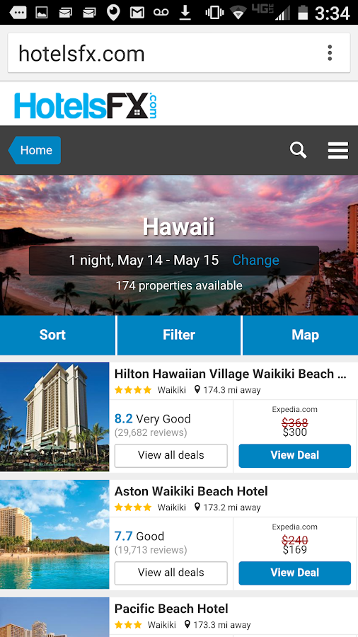 HotelsFX.com Hotel Reservation